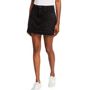 """FRAME """"Le Mini"""" Embellished Stud Skirt Black 28"""